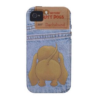 Blue Jean Dachshund Butt Vibe iPhone 4 Case