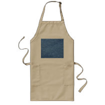 Blue Jean Denim Background Long Apron