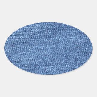 Blue Jean Denim Background Stickers