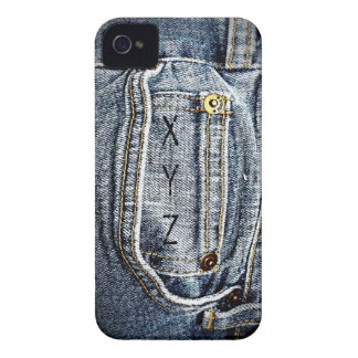 Blue Jean Denim Pocket - Add your name or initials iPhone 4 Case-Mate Cases