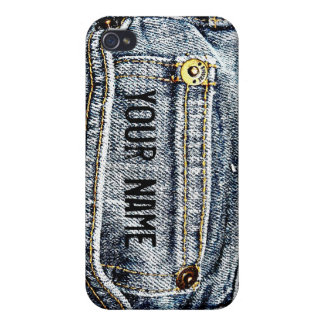 Blue Jean Denim Pocket - Personalize it! iPhone 4 Cover