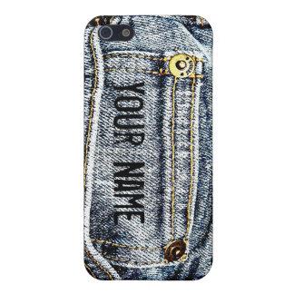 Blue Jean Denim Pocket - Personalize it! iPhone SE/5/5s Case