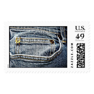 Blue Jean Denim Pocket - Personalize it! Postage