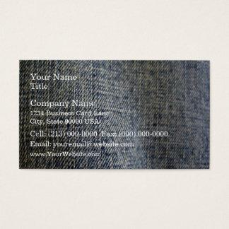 Blue Jean Fabric Texture Business Card