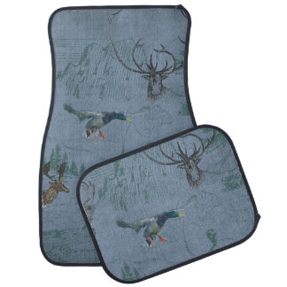 Blue Jean Hunters Paradise Deer Duck Printed Car Mat