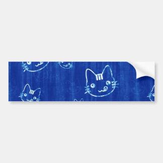 Blue Jean Kitty Bumper Sticker