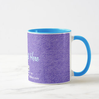 Blue Jean Material, Your Text Here Mug
