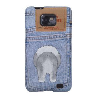 Blue Jean Sheepdog Butt Galaxy S2 Case