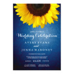Blue Jean & Yellow Sunflower Wedding Invitation