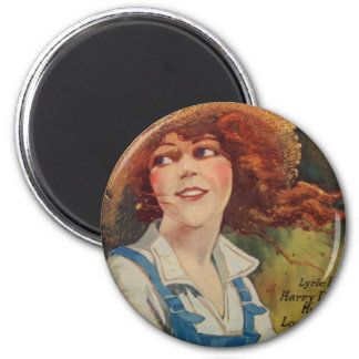Blue Jeans 2 Inch Round Magnet