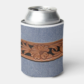 Blue Jeans And Belt Western Can Cooler