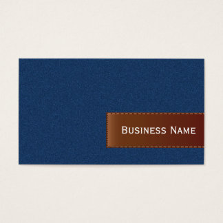 Blue Jeans and Leather Business Card