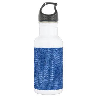 Blue Jeans Background 18oz Water Bottle