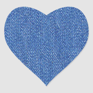 Blue Jeans Background Heart Sticker