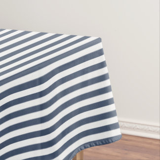 Blue Jeans Blue And White Stripe Tablecloth