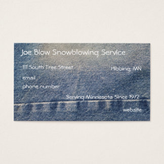 Blue Jeans Business Card