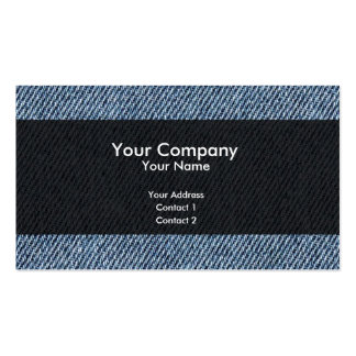 Blue jeans Double-Sided standard business cards (Pack of 100)