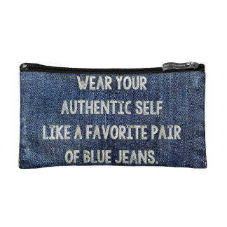 Blue Jeans Cosmetic Bag
