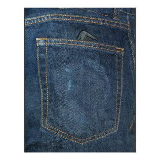 """Blue Jeans Denim Pocket 8.5"""" X 11"""" Flyer"""