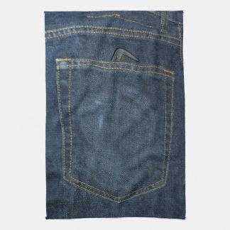 Blue Jeans Denim Pocket Kitchen Towels