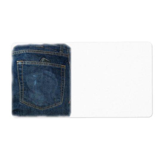 Blue Jeans Denim Pocket Label