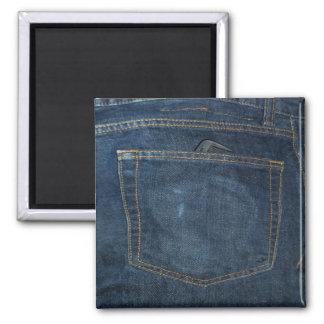 Blue Jeans Denim Pocket Magnet
