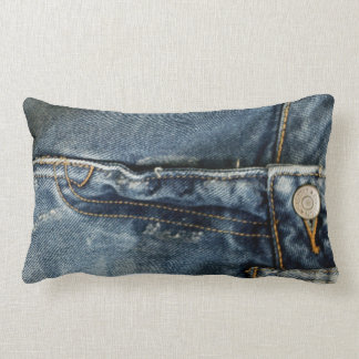 Blue Jeans Denim Zipper faux Throw Pillows