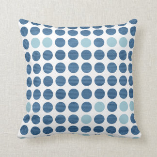 Blue Jeans Dots - Modern Pillows