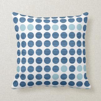 Blue Jeans Dots - Modern Pillows