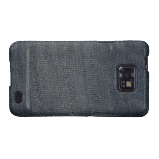 Blue Jeans Fabric Texture Samsung Galaxy S Case Samsung Galaxy S2 Covers
