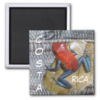 Blue Jeans Frog Customizable Magnet