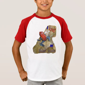 Blue Jeans Frog Kids V-neck T-shirt