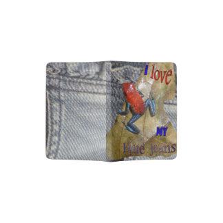 Blue Jeans Frog Passport Holder