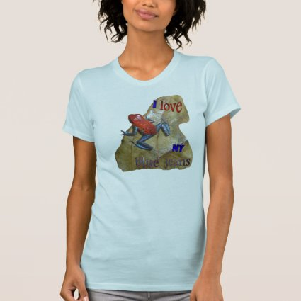 Blue Jeans Frog Womens App. T-shirt