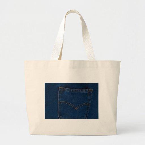 blue jeans jumbo tote bag