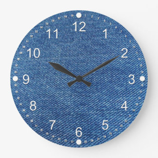 Blue Jeans Large Clock