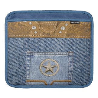 """Blue Jeans & Leather"" Western IPad  Sleeve"