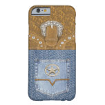 """""""Blue Jeans & Leather"""" Western iPhone 6 case"""