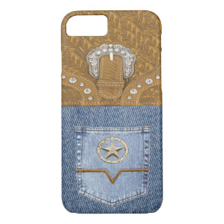 """Blue Jeans & Leather"" Western iPhone 7 case"