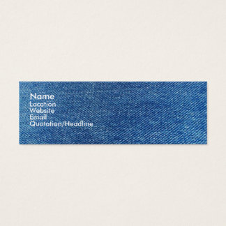 Blue Jeans Mini Business Card