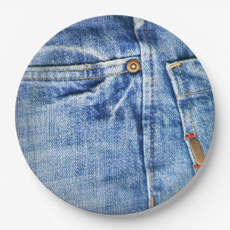 BLUE JEANS PAPER PLATE