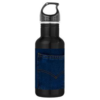blue jeans 18oz water bottle