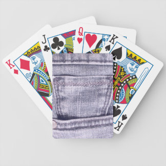 Blue Jeans Pocket, Fabric, Seams Bicycle Playing Cards