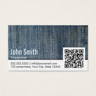 Blue Jeans QR Code Interpreter Business Card
