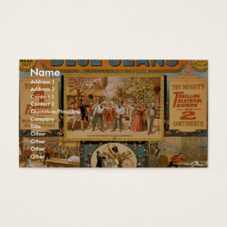 Blue Jeans Retro Theater Business Card