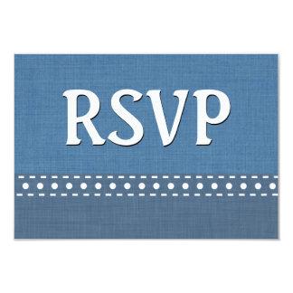 Blue Jeans RSVP Stitches Polka Dots V10N Card
