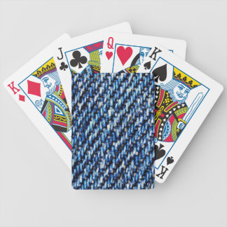 Blue jeans texture bicycle playing cards