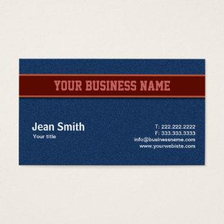 Blue Jeans Texture business card