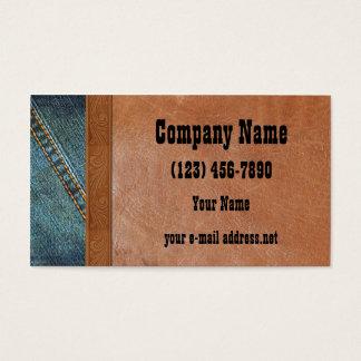 Blue Jeans Vintage leather Business Card