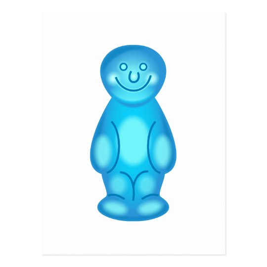 Blue Jelly Baby Postcard